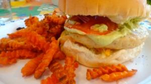 Spicy Avocado Chicken Burger
