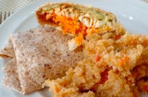 Tilapia Wraps with Quinoa