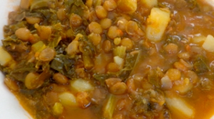 Curried Lentil and Kale Stew